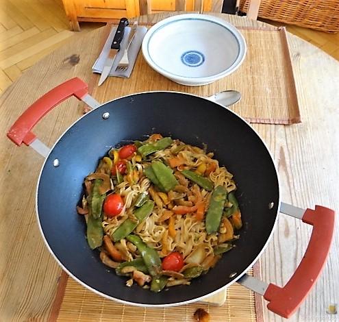 Wokgemüse mit Reisnudeln (5)