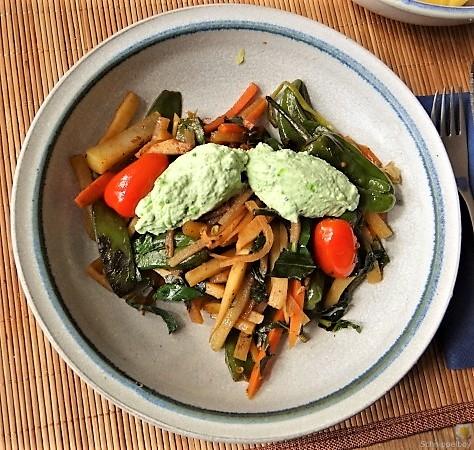 Wokgemüse und Erbs-Ricotta Creme (2)