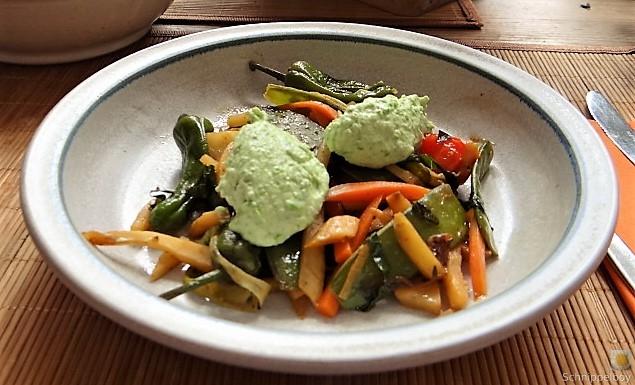 Wokgemüse und Erbs-Ricotta Creme (4)