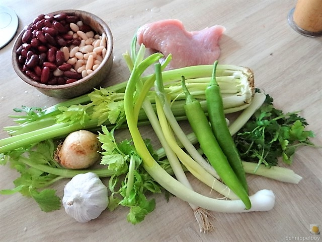 Bohnen-Bleichsellerie Pfanne und Putenschnitzel (7)