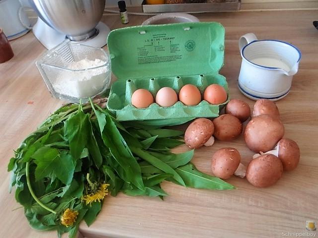 Eierpfannkuchen mit Knospen vom Bärlauch und Löwenzahn (10)