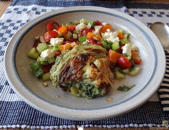 KartoffelBrennessel Gratin, Gemischter Salat (1)