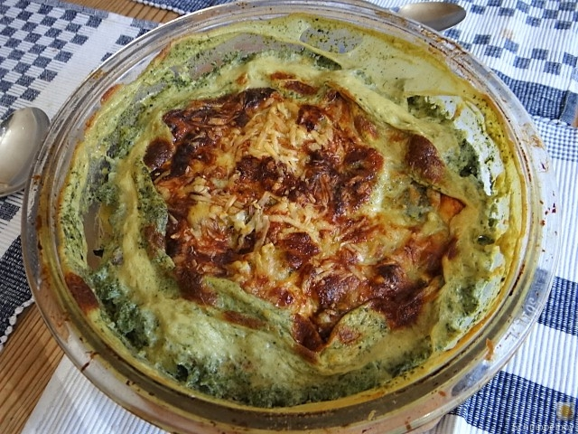 KartoffelBrennessel Gratin, Gemischter Salat (21)