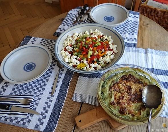 KartoffelBrennessel Gratin, Gemischter Salat (9)