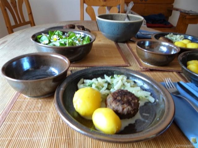 Kohlrabi mit Frikadelle (3)