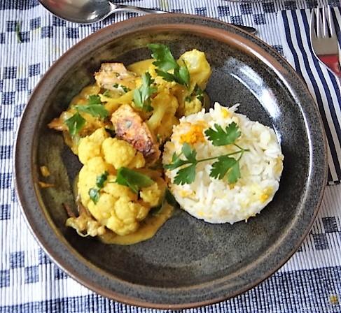 Blumenkohl Curry mit Meeresfrüchten (1)