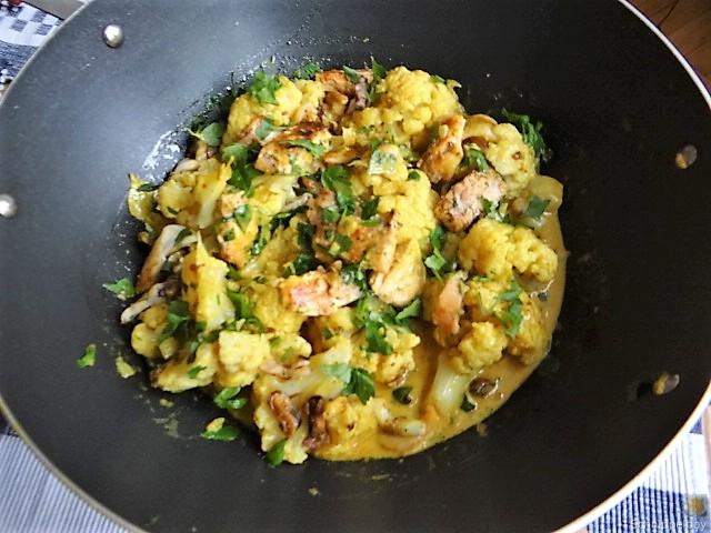 Blumenkohl Curry mit Meeresfrüchten (15)