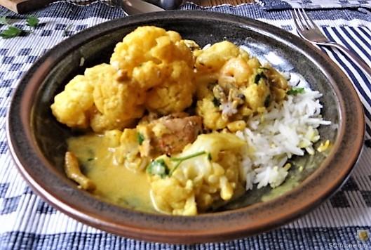 Blumenkohl Curry mit Meeresfrüchten (24)