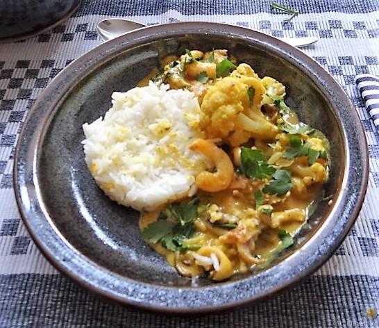Blumenkohl Curry mit Meeresfrüchten (3)