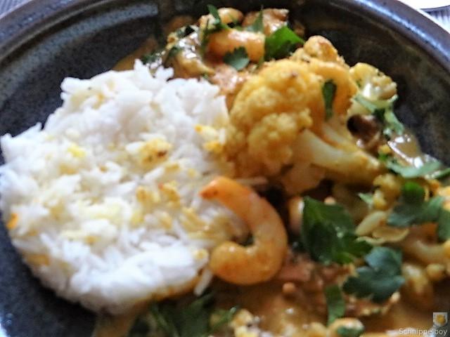 Blumenkohl Curry mit Meeresfrüchten (4)