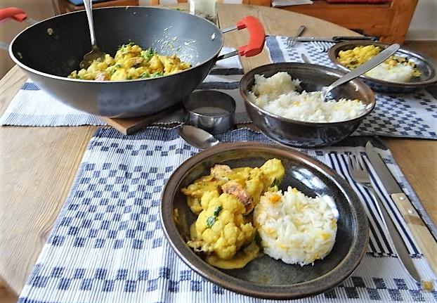 Blumenkohl Curry mit Meeresfrüchten (5)
