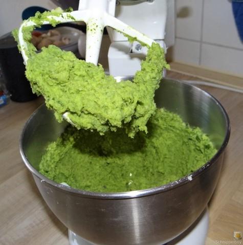 Grüne Klöße, Grüner Spargel, Zitronensauce (15)