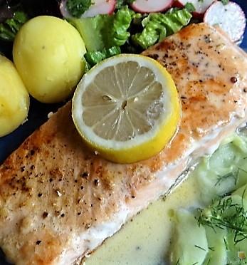 Lachs und Salate (3)