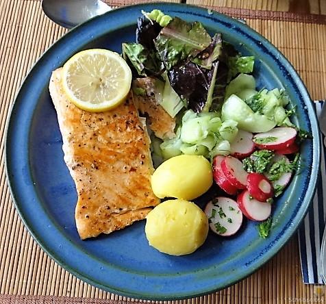 Lachs und Salate (4)