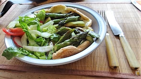 Omlette,Spargel, Salat (20)