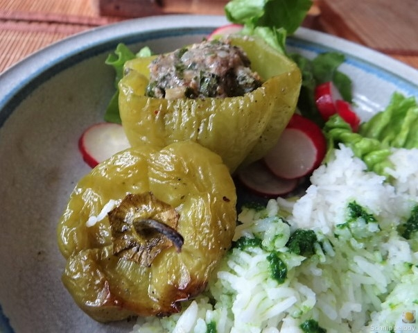 Paprika,grün,gefüllt (3)