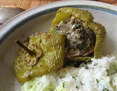 Paprika,grün,gefüllt (5)