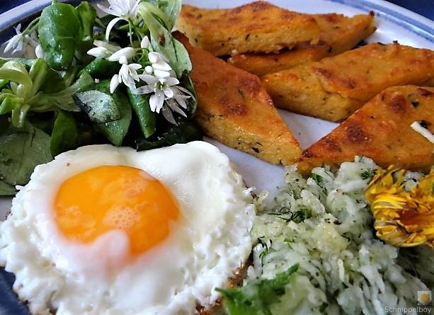 Polenta, Salate und Spiegelei (4)