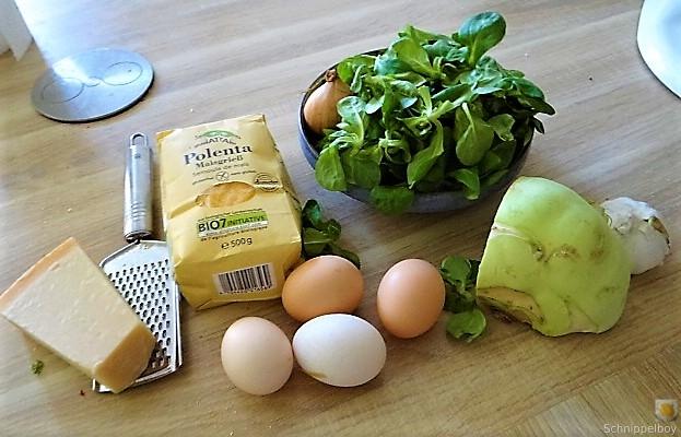 Polenta, Salate und Spiegelei (7)