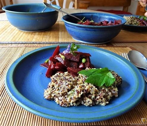 Quinoa Risotto, Rote Beete Gemüse (22)