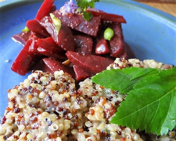 Quinoa Risotto, Rote Beete Gemüse (3)