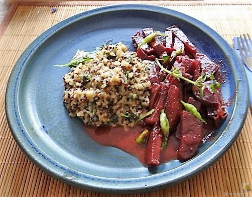 Quinoa Risotto, Rote Beete Gemüse (4)