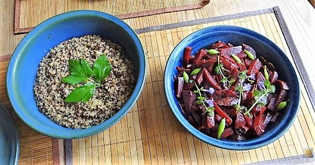 Quinoa Risotto, Rote Beete Gemüse (6)