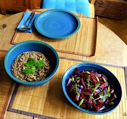 Quinoa Risotto, Rote Beete Gemüse (7)
