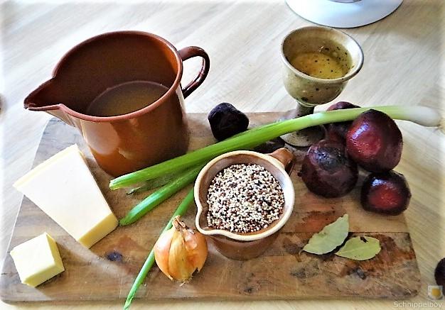 Quinoa Risotto, Rote Beete Gemüse (9)