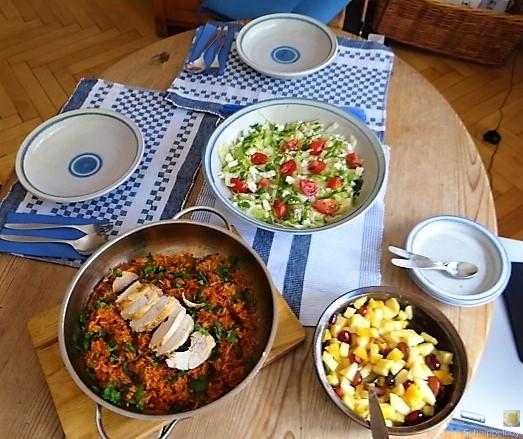 Tomatenreis und Salat (8)