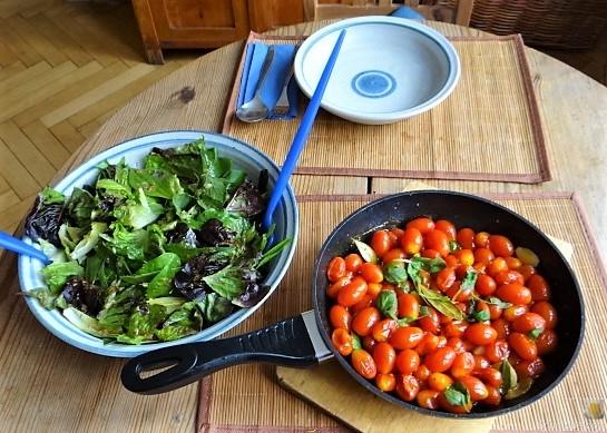Amaranth, Wildkräutersalat und Tomaten (16)