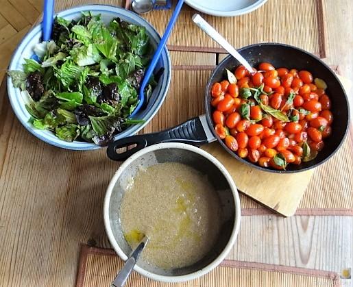 Amaranth, Wildkräutersalat und Tomaten (5)