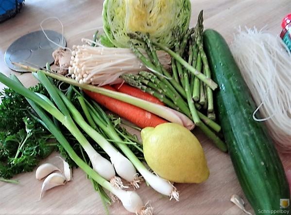Glasnudeln, Gemüse und Putenfleisch (10)