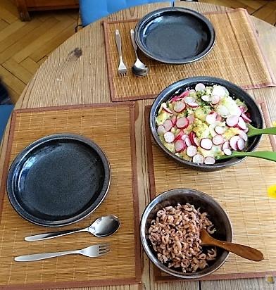 Kartoffelsalat, Nordseekrabben, Erdbeeren (20)