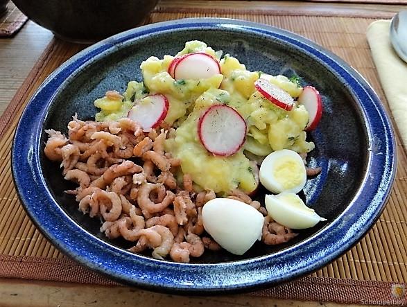 Kartoffelsalat, Nordseekrabben, Erdbeeren (5)