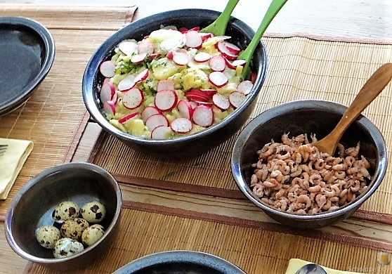 Kartoffelsalat, Nordseekrabben, Erdbeeren (7)