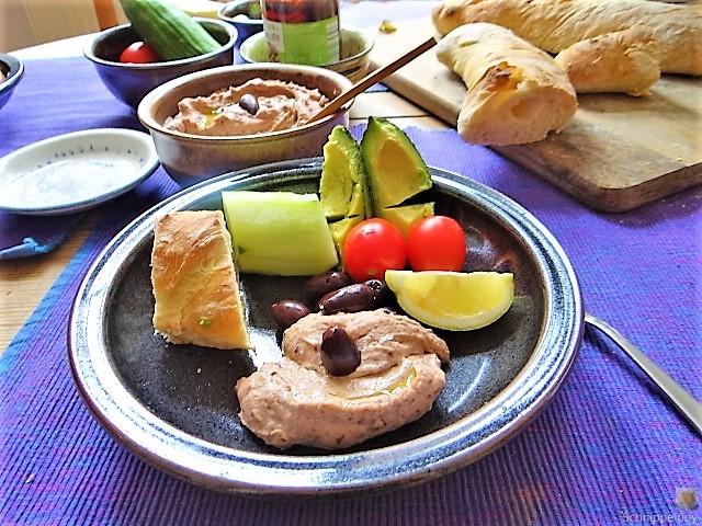 Baguette, Humus, Snack (12)
