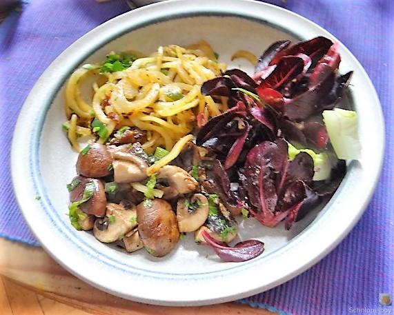 Kartoffel Zoodles und Shiitake-Champignon Pfanne (23)