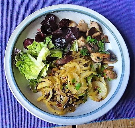 Kartoffel Zoodles und Shiitake-Champignon Pfanne (3)