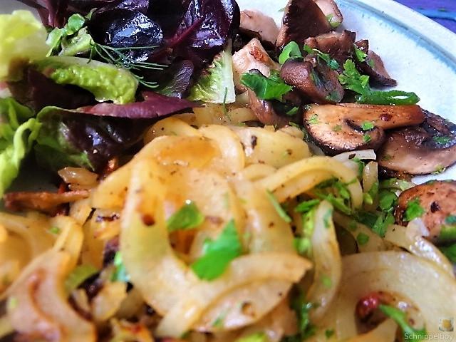 Kartoffel Zoodles und Shiitake-Champignon Pfanne (4)