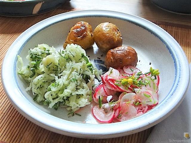 Ofenkartoffel mit Kohlrabi und Radieschensalat (30)