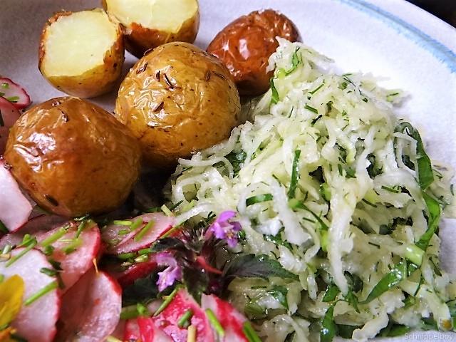 Ofenkartoffel mit Kohlrabi und Radieschensalat (4)