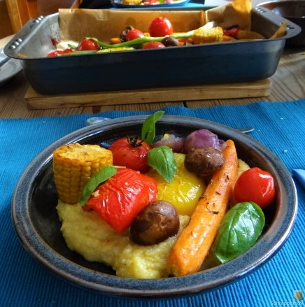 Polenta mit Ofengemüse (7)