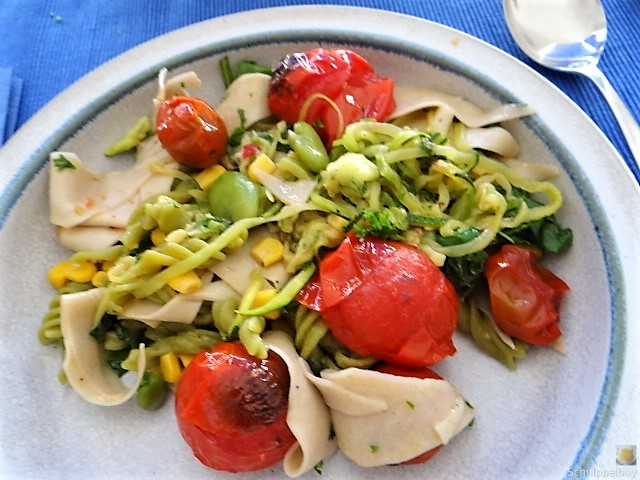 Buchweizenpasta mit verschiedenen Gemüsen (16)