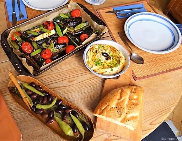 Hummus und Ofengemüse (6)