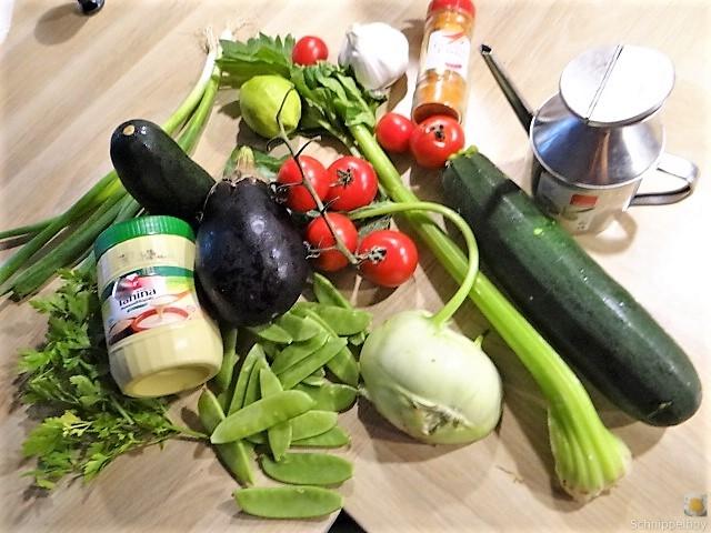 Hummus und Ofengemüse (8)