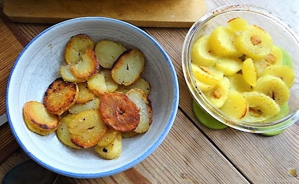 Ofen Zucchini mit Guacamole und Kloßscheiben vom Vortag (16)