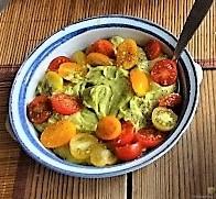 Ofen Zucchini mit Guacamole und Kloßscheiben vom Vortag (20)