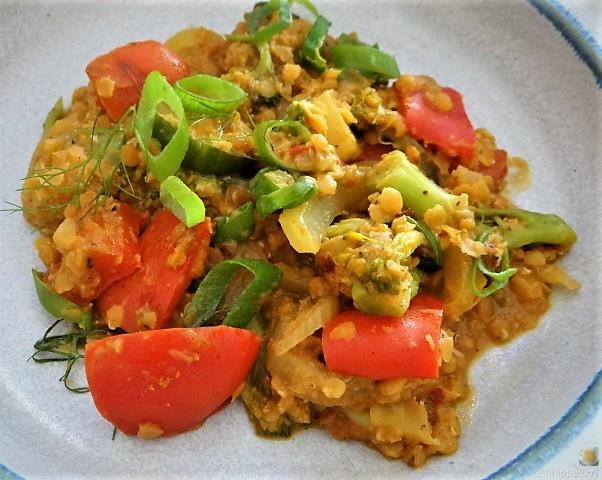 Gedünstetes Gemüse mit roten Linsen (3)