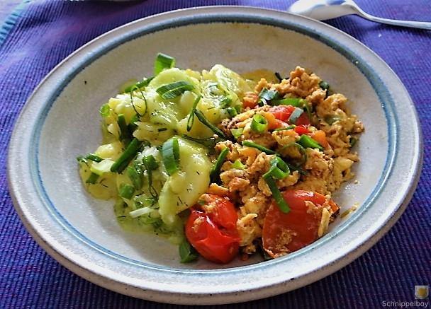 Kartoffelsalat mit Rührei (4)